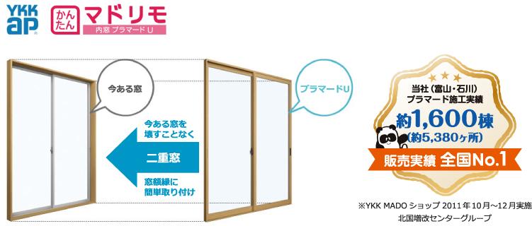 窓 内窓 外窓 リフォーム 二重窓 富山